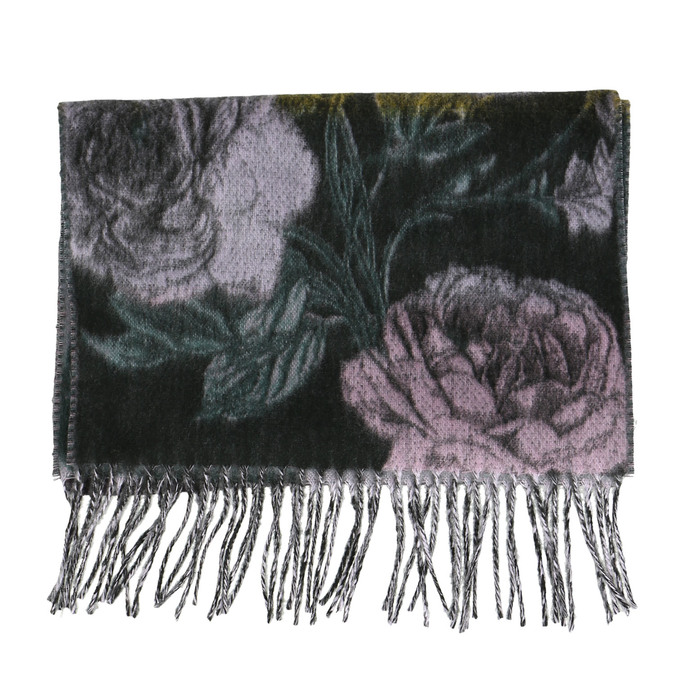 Dámská šála s květinovým vzorem bata, fialová, 909-9643 - 26