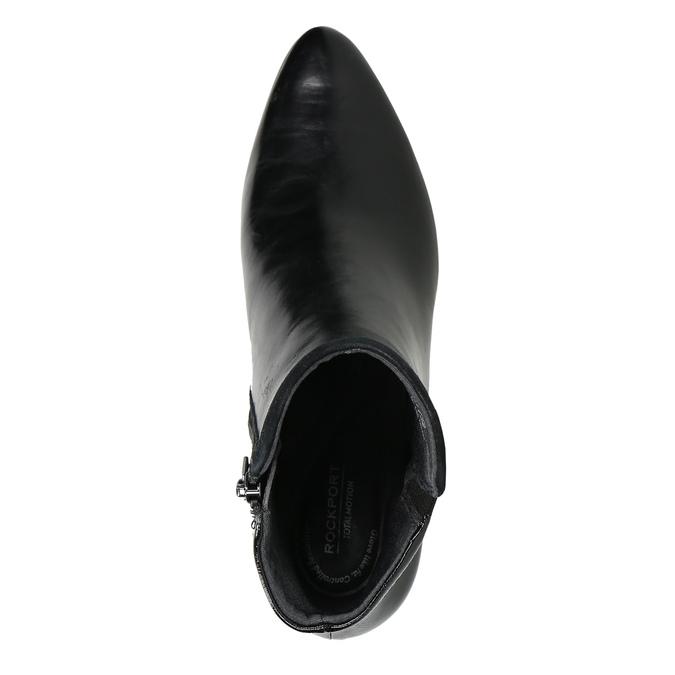 Kotníčkové kozačky na stabilním podpatku rockport, černá, 714-6055 - 26