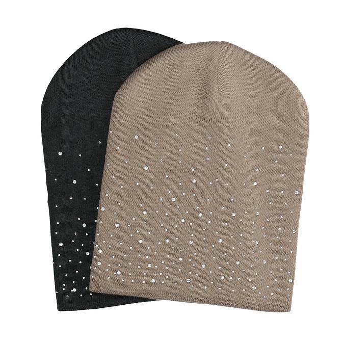 Dámská čepice s kamínky bata, vícebarevné, 909-0689 - 13