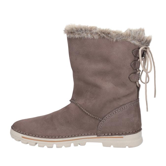 Dámské zimní boty s kožíškem weinbrenner, hnědá, 596-4334 - 15