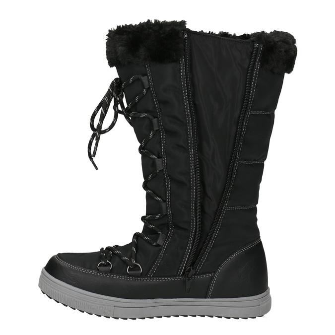 Dámské sněhule s prošíváním bata, černá, 599-6621 - 15