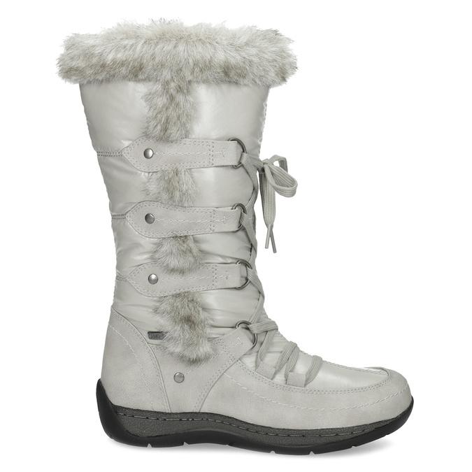 Zimní sněhule s kožíškem bata, šedá, 599-8618 - 19