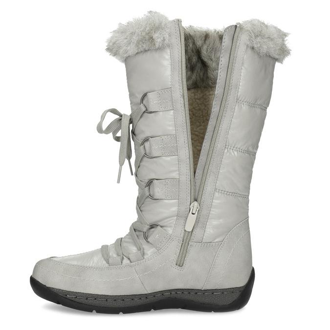 Zimní sněhule s kožíškem bata, šedá, 599-8618 - 17