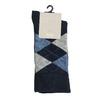 Pánské ponožky s anglickým vzorem bata, modrá, 919-9643 - 13