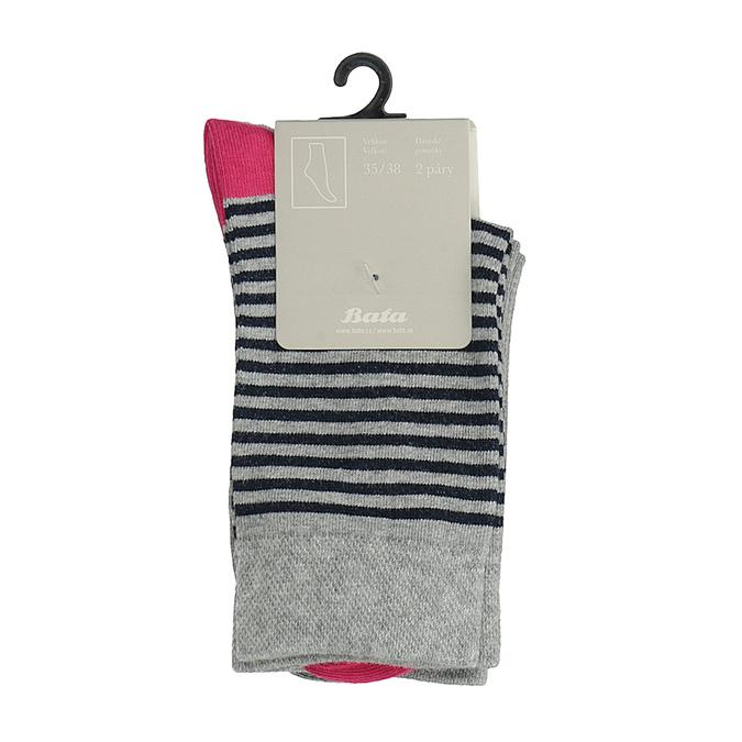 Sada dvou párů ponožek bata, šedá, 919-2654 - 13