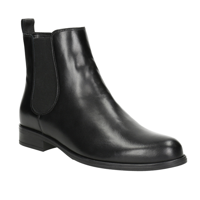 Dámské kožené Chelsea Boots bata, černá, 594-6661 - 13