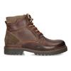 Kožená zimní obuv kotníčková bata, hnědá, 896-4661 - 19
