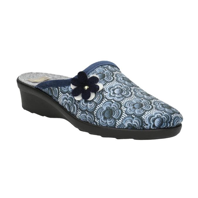 Dámská domácí obuv bata, modrá, 579-9623 - 13