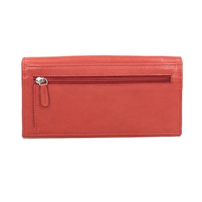 Dámská červená peněženka z kůže bata, červená, 944-3203 - 16