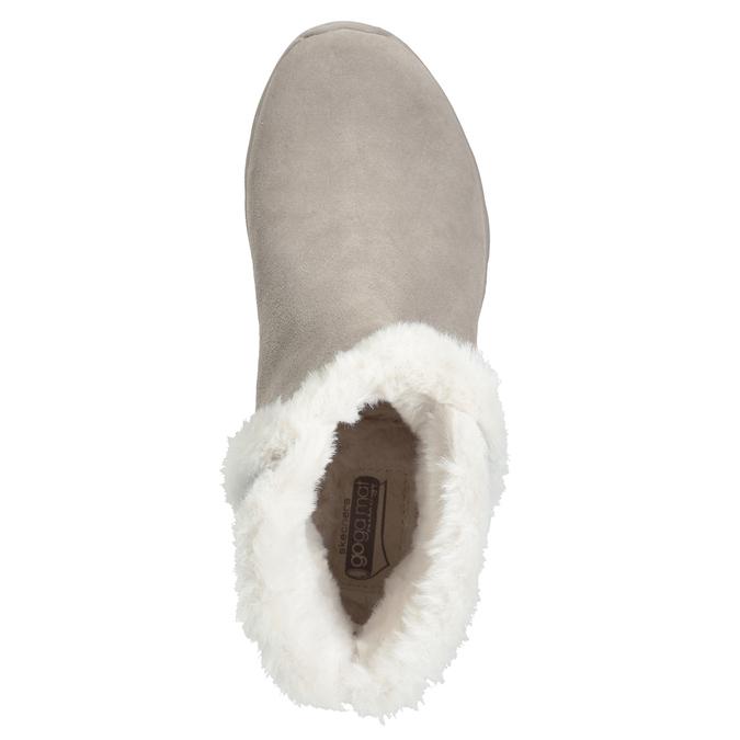 Dámská obuv z broušené kůže skechers, 503-3326 - 17