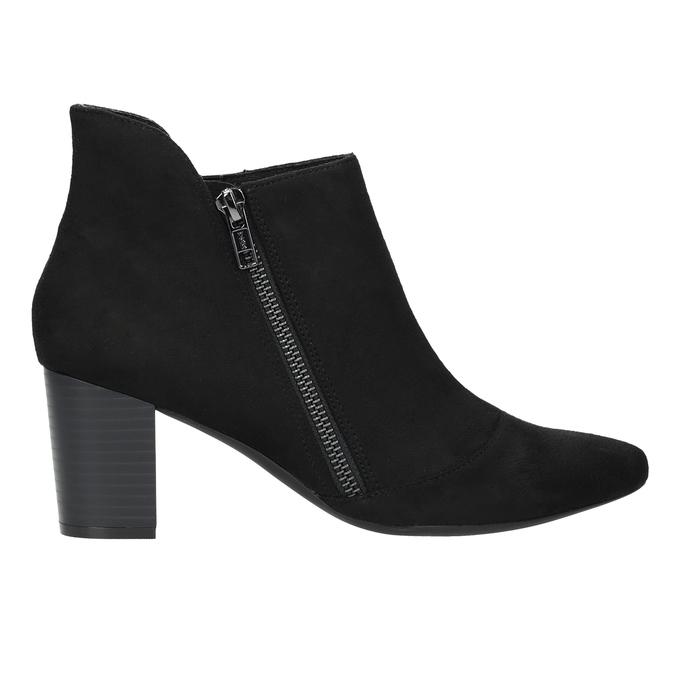 Kožená kotníčková obuv na podpatku rockport, černá, 713-6056 - 16