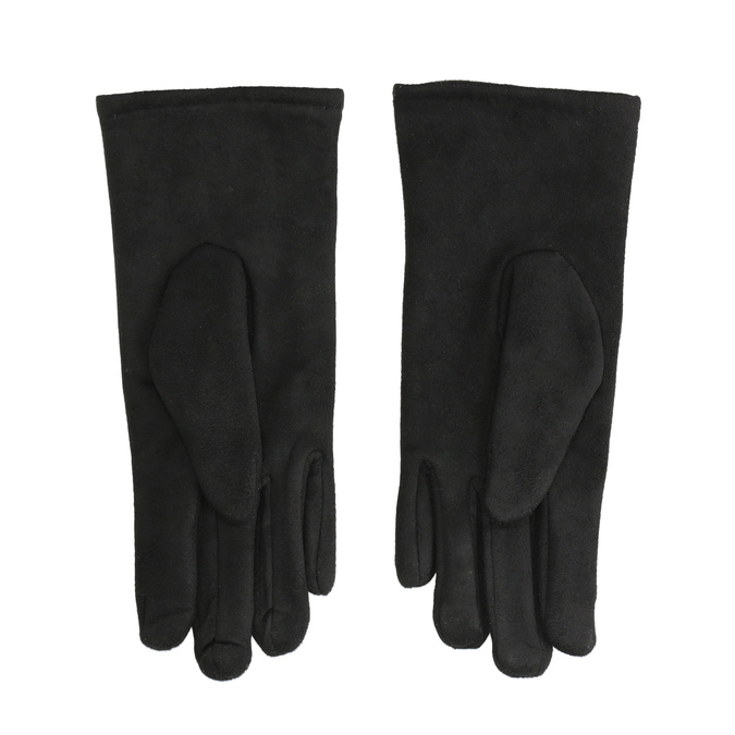 Dámské textilní rukavice bata, černá, 909-6612 - 16