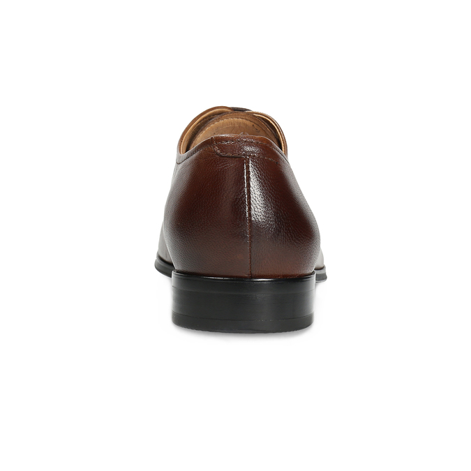 Hnědé kožené Oxford polobotky bata, hnědá, 826-3808 - 15