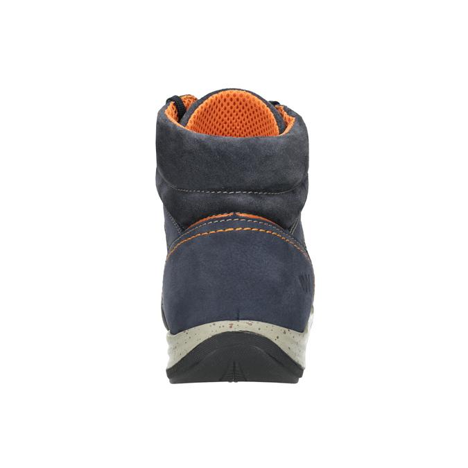 Kožená kotníčková obuv ve sportovním stylu weinbrenner, modrá, 896-9706 - 16