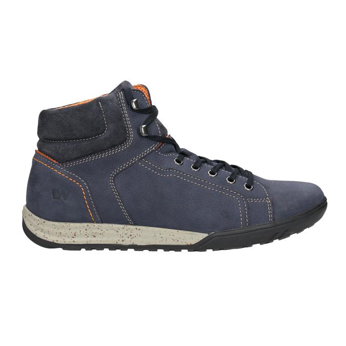 Kožená kotníčková obuv ve sportovním stylu weinbrenner, modrá, 896-9706 - 26