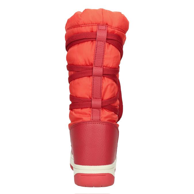 Červené dámské sněhule bata, červená, 599-5616 - 17