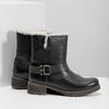 Dámská obuv s kožíškem bata, černá, 594-6609 - 16