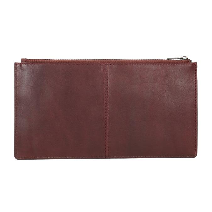 Kožené psaníčko s prošitím bata, červená, 966-5285 - 15