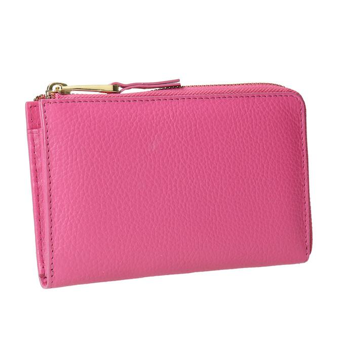 Růžová kožená peněženka bata, růžová, 946-5284 - 13