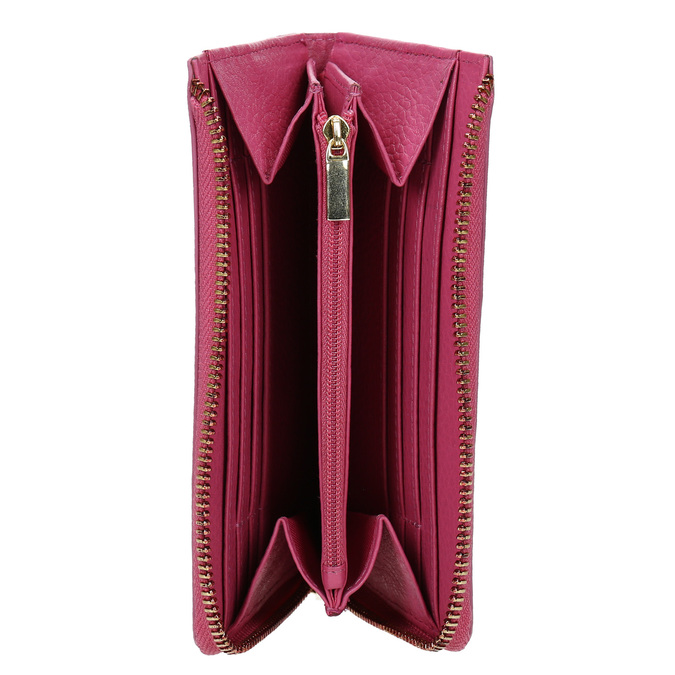 Růžová kožená peněženka bata, růžová, 946-5284 - 15