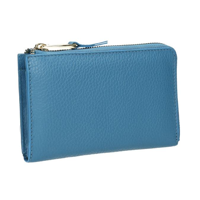 Modrá kožená peněženka bata, modrá, 946-9284 - 13
