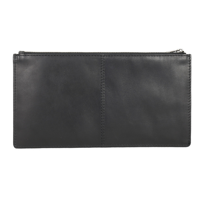 Černé kožené psaníčko bata, černá, 966-6285 - 15