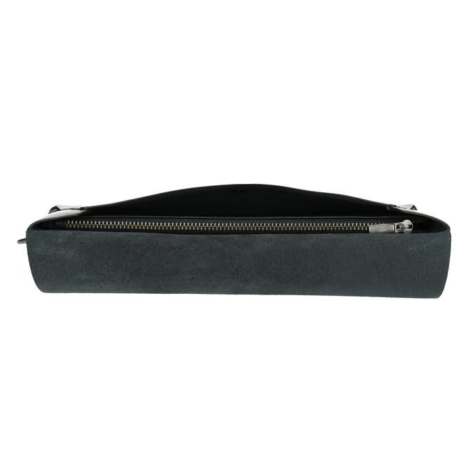 Černé kožené psaníčko bata, černá, 966-6285 - 17