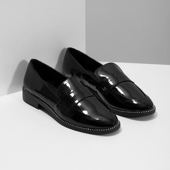 Lakované dámské mokasíny bata, černá, 511-6607 - 26