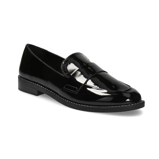 Lakované dámské mokasíny bata, černá, 511-6607 - 13