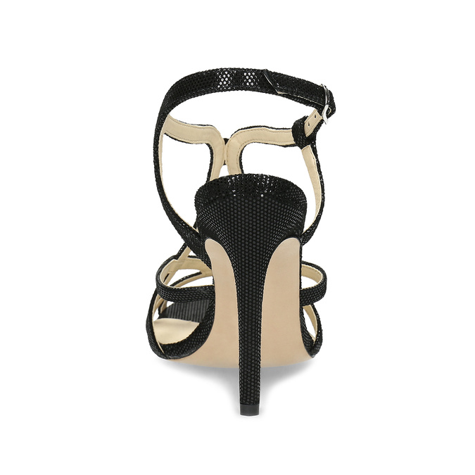 Dámské společenské sandály bata, černá, 726-6648 - 15