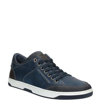 Modré kožené tenisky bata, modrá, 846-9927 - 13
