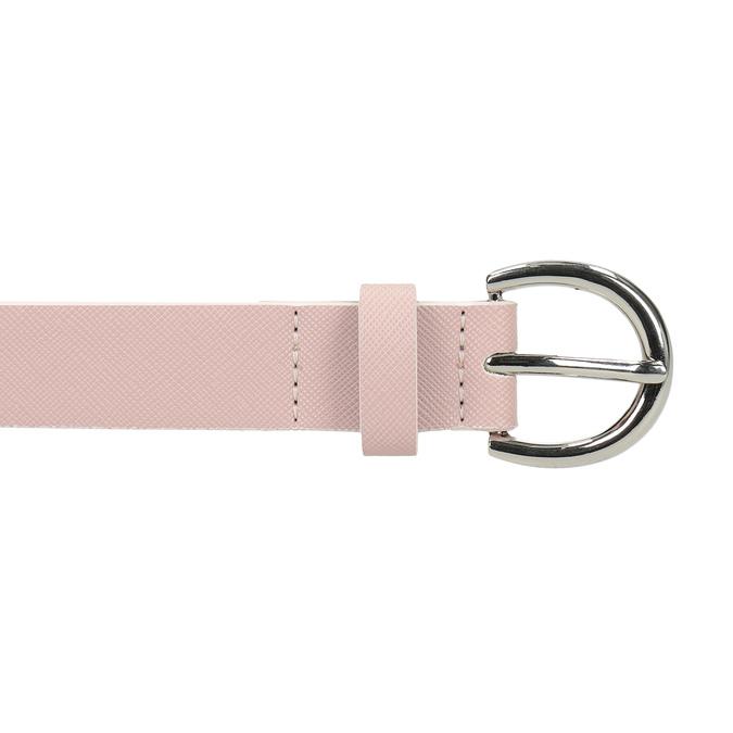 Růžový dámský opasek bata, 951-9604 - 26
