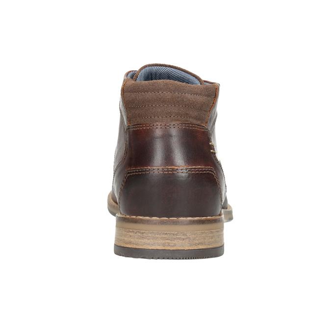 Pánská kožená kotníčková obuv bata, hnědá, 826-3926 - 16