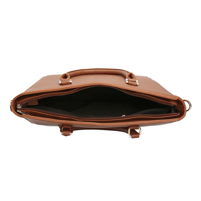Hnědá kabelka s odnímatelným popruhem bata, hnědá, 961-3845 - 15