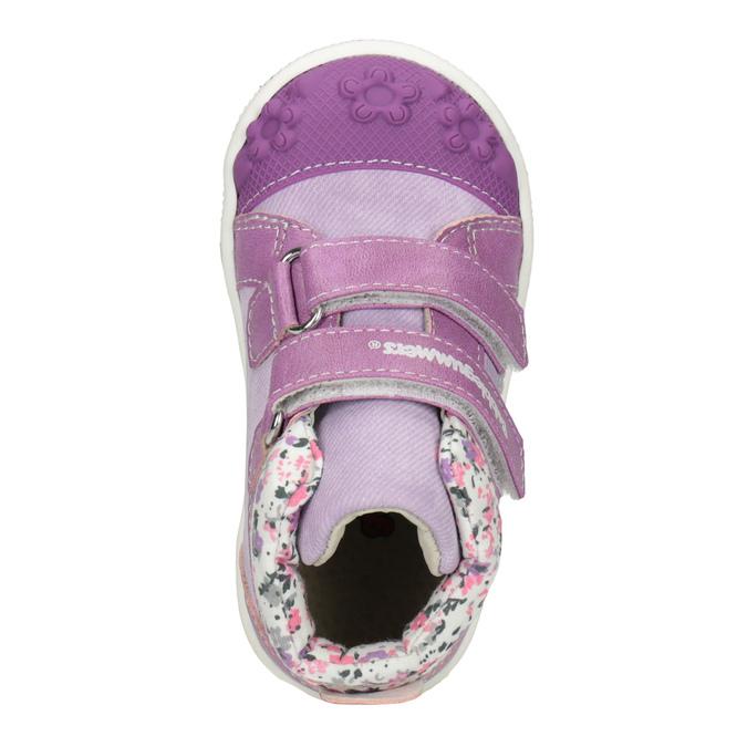 Kotníčkové dětské tenisky se vzorem bubblegummers, fialová, 121-9618 - 15