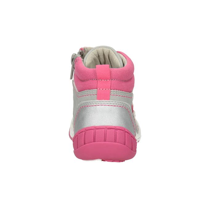 Kotníčková dětská obuv s výšivkou bubblegummers, šedá, 121-2619 - 16