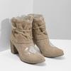 Kotníčkové kozačky s výšivkou a kamínky bata, 696-2655 - 26