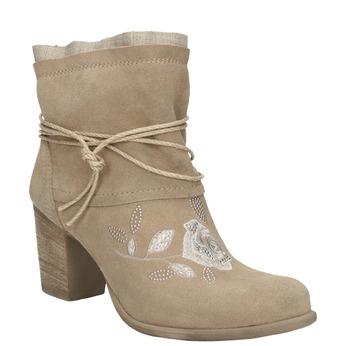 Kotníčkové kozačky s výšivkou a kamínky bata, 696-2655 - 13