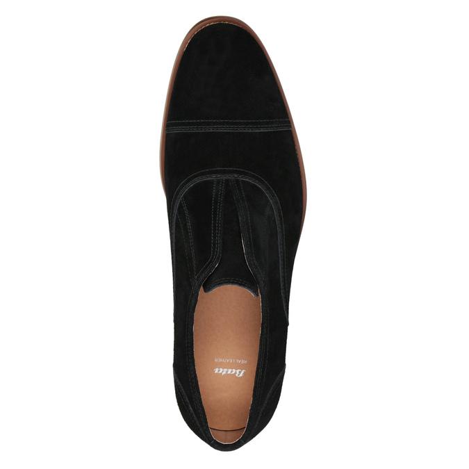 Polobotky typu Oxford z broušené kůže bata, černá, 823-6618 - 15