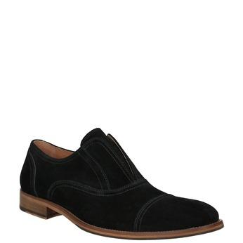 Polobotky typu Oxford z broušené kůže bata, černá, 823-6618 - 13
