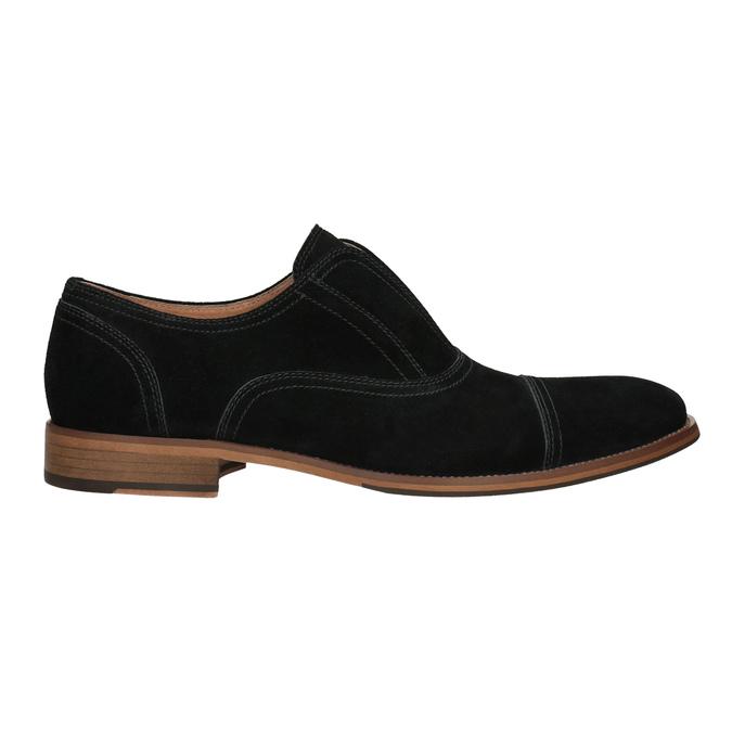 Polobotky typu Oxford z broušené kůže bata, černá, 823-6618 - 26