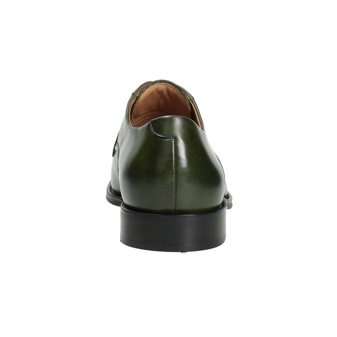 Pánské kožené polobotky zelené bata, zelená, 826-7857 - 16
