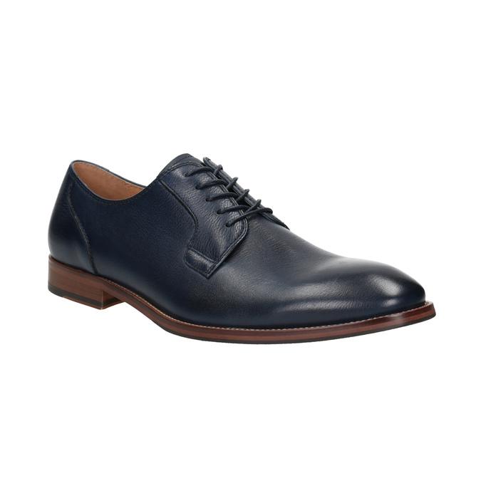 Modré kožené polobotky bata, modrá, 826-9997 - 13