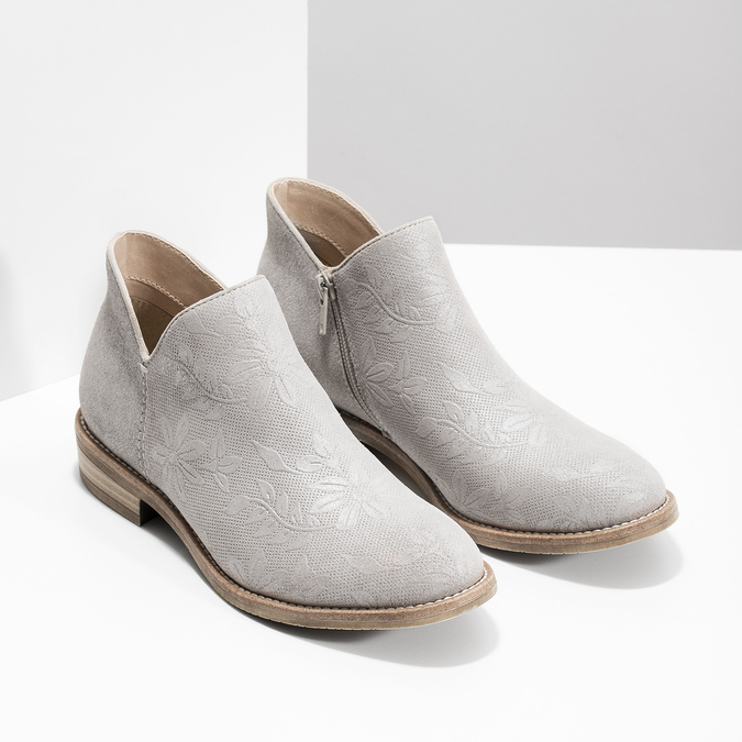 Kotníčkové dámské kozačky bata, šedá, 596-2685 - 26
