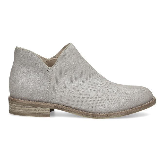 Kotníčkové dámské kozačky bata, šedá, 596-2685 - 19