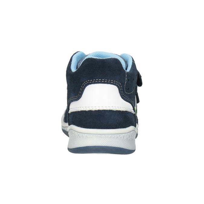 Dětská kožená kotníčková obuv bubblegummers, modrá, 113-9603 - 16