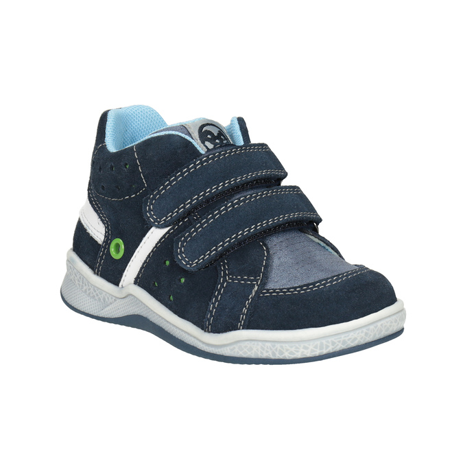 Dětská kožená kotníčková obuv bubblegummers, modrá, 113-9603 - 13