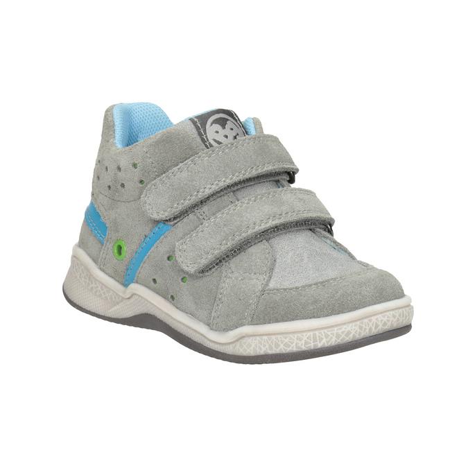 Kožená dětská kotníčková obuv bubblegummers, šedá, 113-2603 - 13