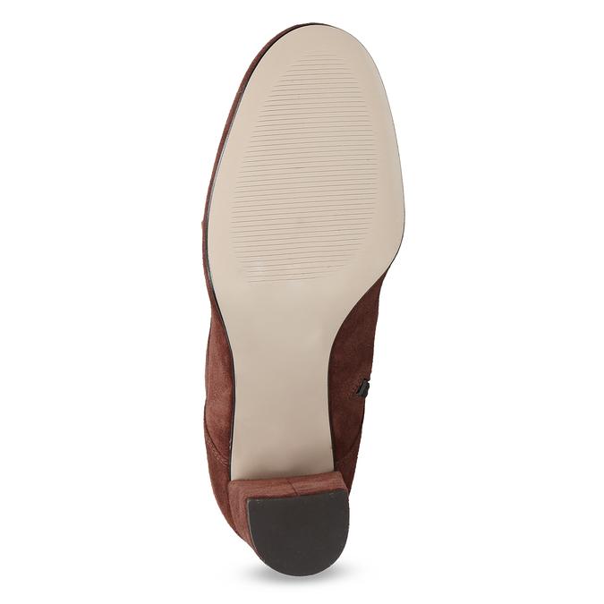 Kožené červené kotníčkové boty bata, červená, 793-5613 - 18