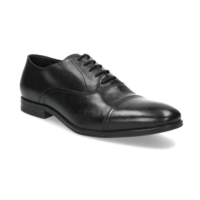 Černé kožené Oxford polobotky bata, černá, 824-6944 - 13